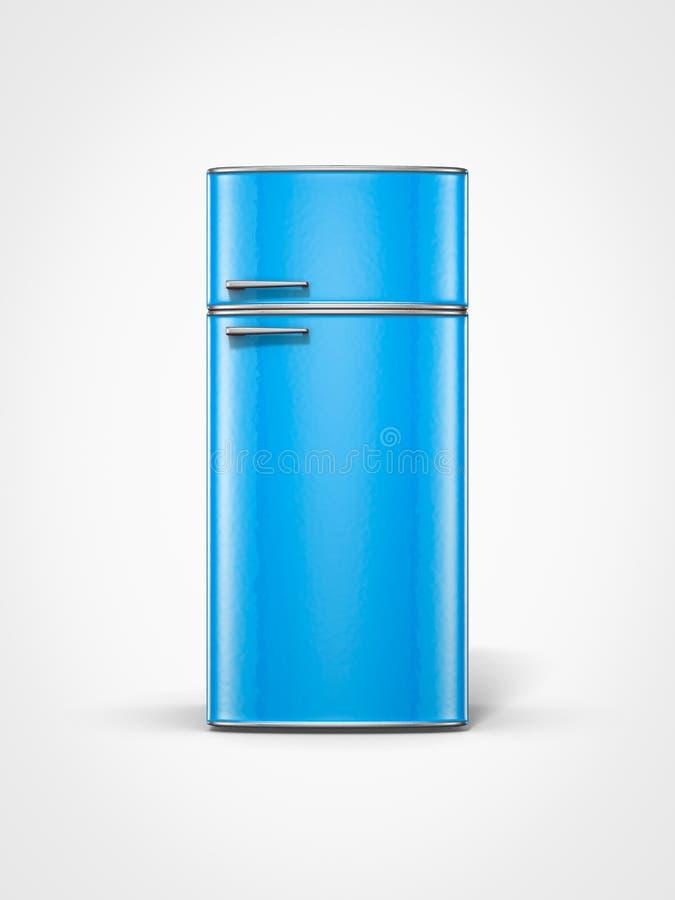 葡萄酒蓝色冰箱 皇族释放例证