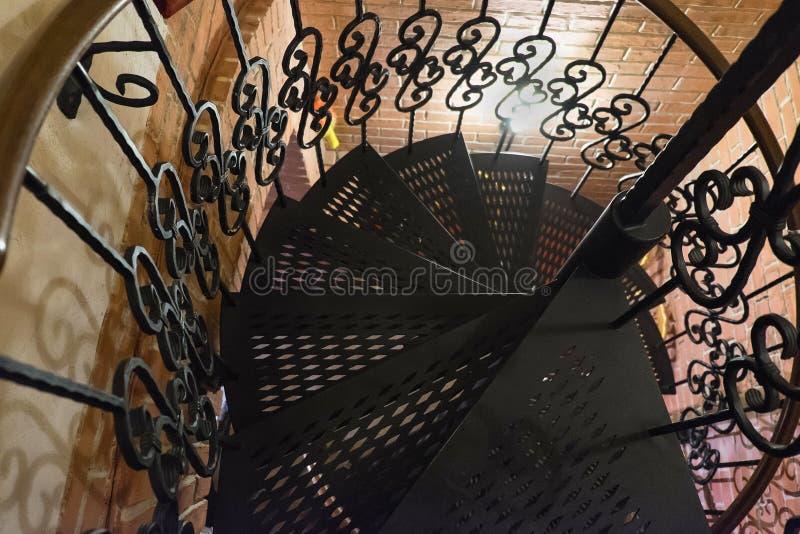 葡萄酒螺旋形楼梯 图库摄影