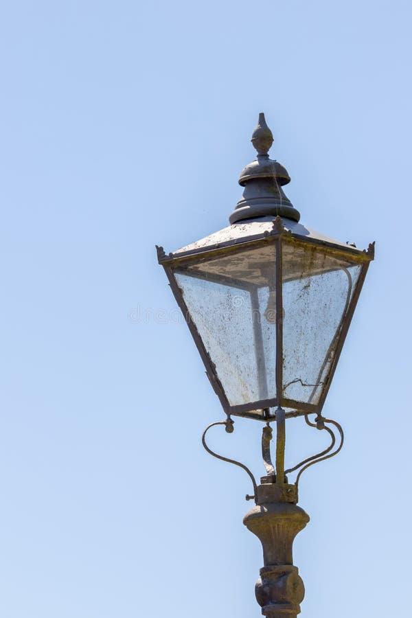 葡萄酒街灯 维多利亚女王时代的样式街灯特写镜头 库存照片