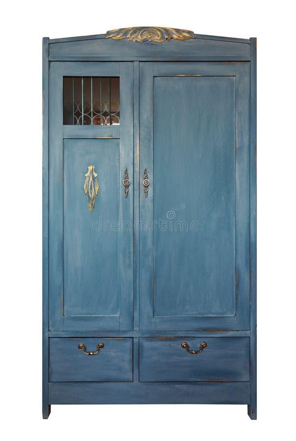 葡萄酒衣橱,老家具 破旧的样式内部,从土气白垩油漆的家具 手工制造普罗旺斯室样式 免版税库存照片