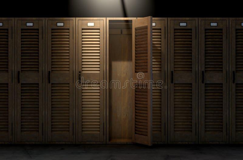 葡萄酒衣物柜和门户开放主义 皇族释放例证
