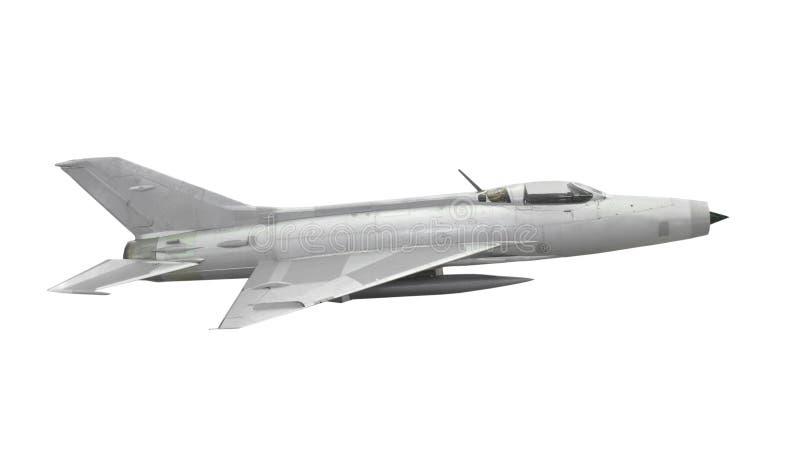 葡萄酒被隔绝的喷气式歼击机航空器 免版税库存照片