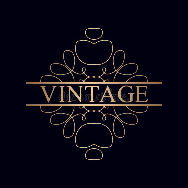 葡萄酒装饰物商标 向量例证