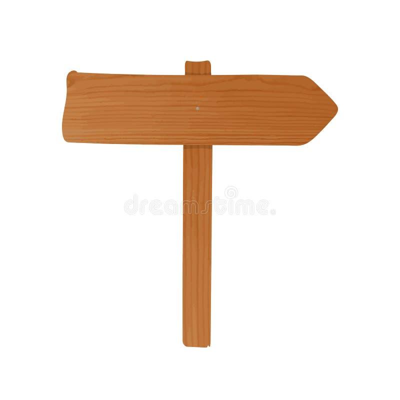 葡萄酒路牌一起被钉牢的由木板条和杆制成 与显示的箭头的老路标指向和 库存例证
