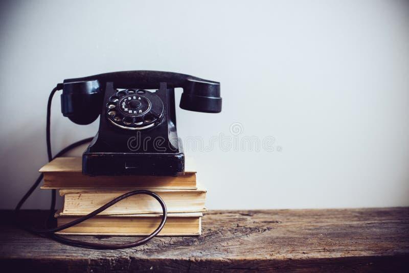 葡萄酒转台式电话 库存图片