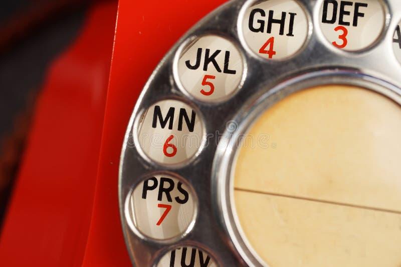葡萄酒轮循拨号电话细节  库存照片
