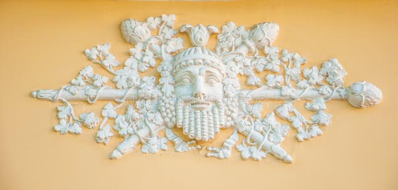 葡萄酒酿造Dionysus酒神,酒神的古老神 免版税库存图片