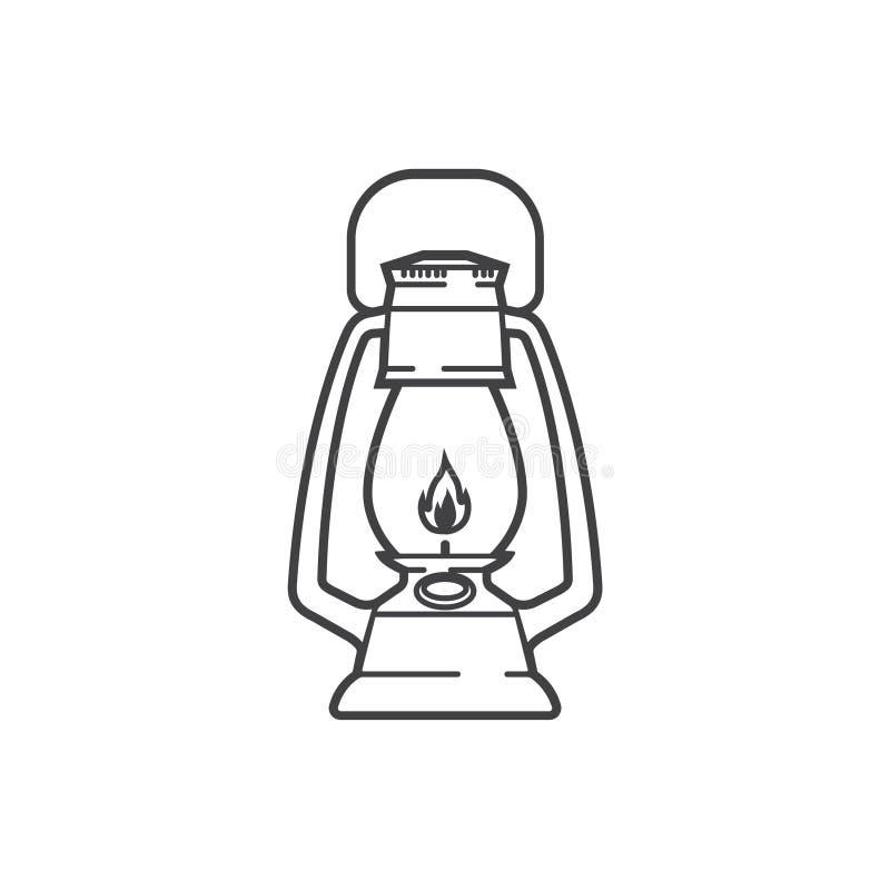 葡萄酒野营的灯笼象 库存例证