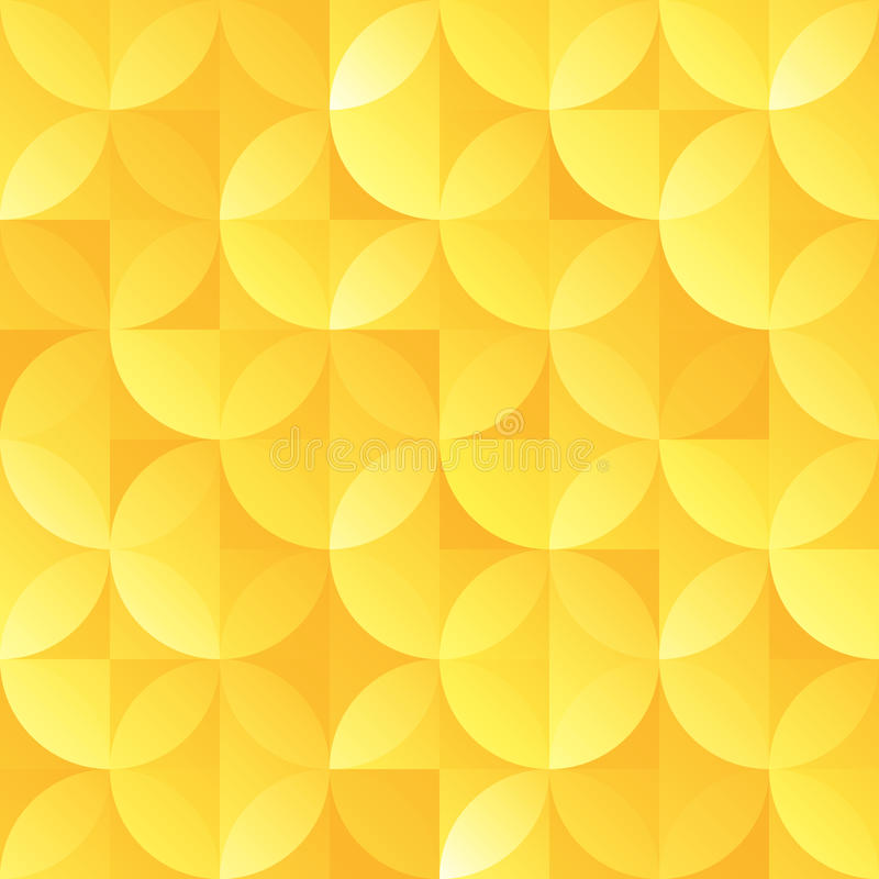 葡萄酒金减速火箭的无缝的sircle形状传染媒介样式 库存例证