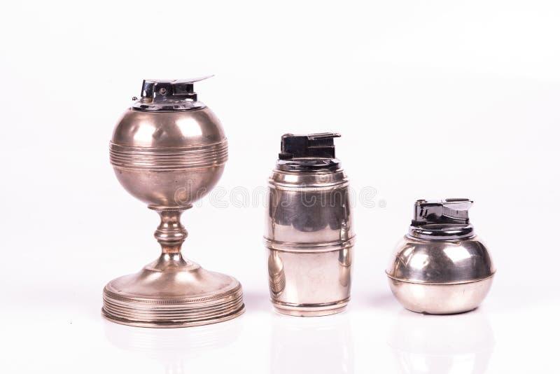 葡萄酒银色lightes 免版税库存图片