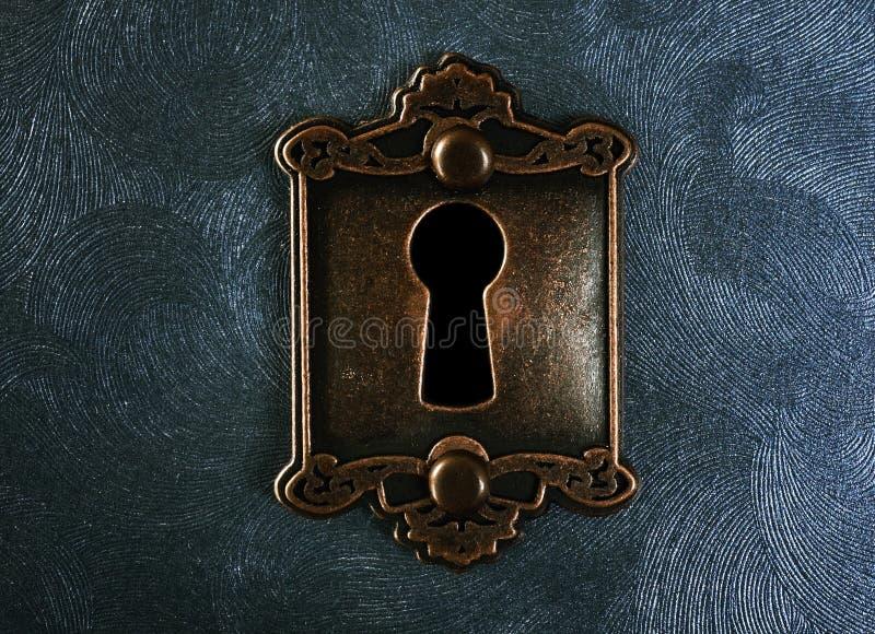 葡萄酒锁特写镜头 免版税库存照片