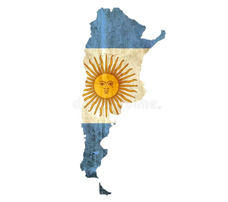 葡萄酒阿根廷的纸地图 向量例证