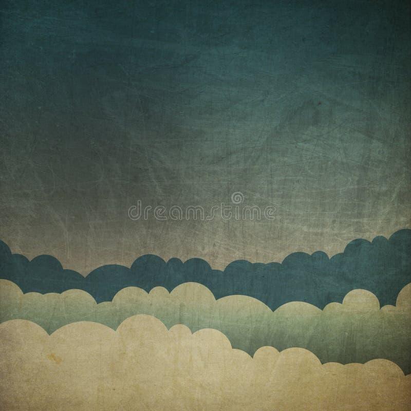 葡萄酒难看的东西天空背景。 库存例证