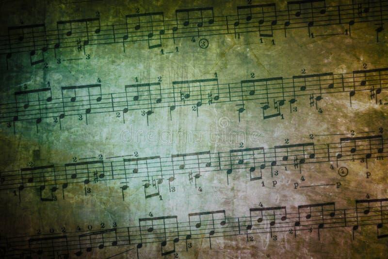 葡萄酒音乐纸张 免版税库存照片