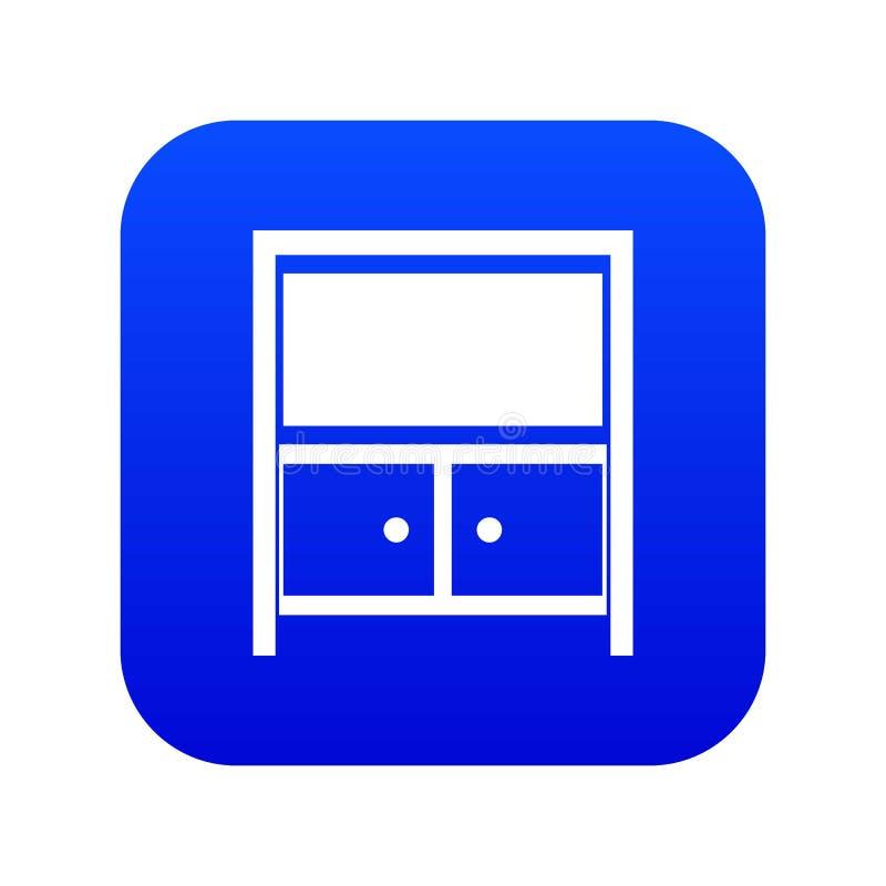 葡萄酒餐具柜象数字蓝色 向量例证