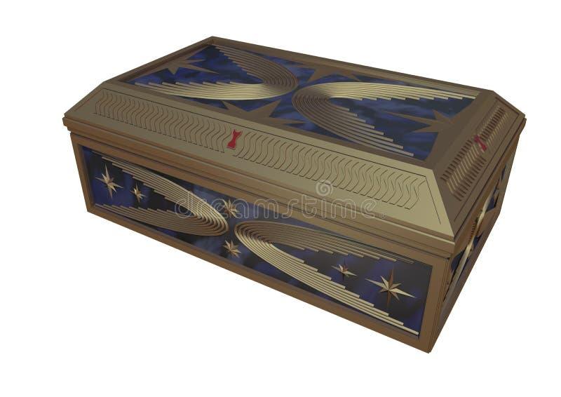 葡萄酒首饰盒(石头和古铜) 免版税库存照片