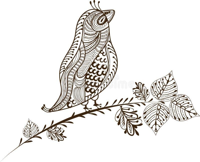 葡萄酒鸟 免版税库存图片