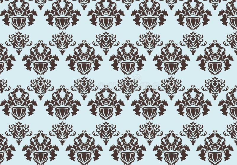 葡萄酒巴洛克式的样式装饰品锦缎主题 皇族释放例证