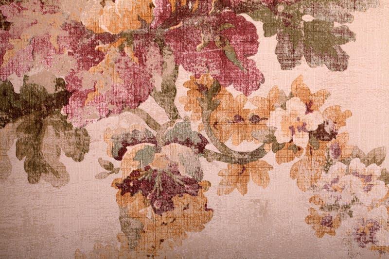葡萄酒破旧的花卉背景,被定调子的图象 库存图片