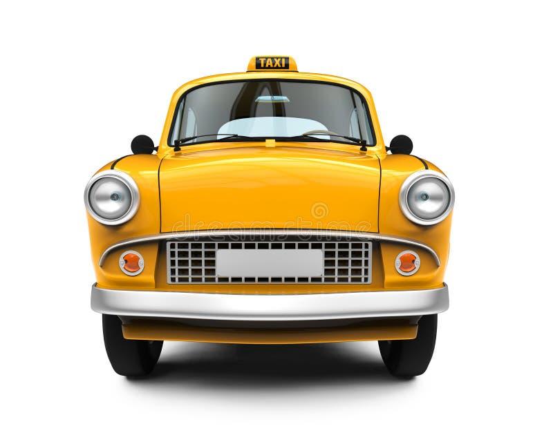 葡萄酒黄色出租汽车 皇族释放例证