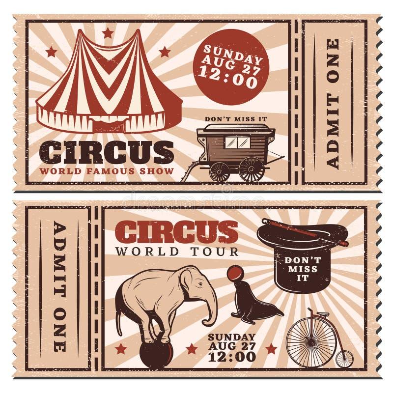 葡萄酒给马戏的展示水平的票做广告 库存例证