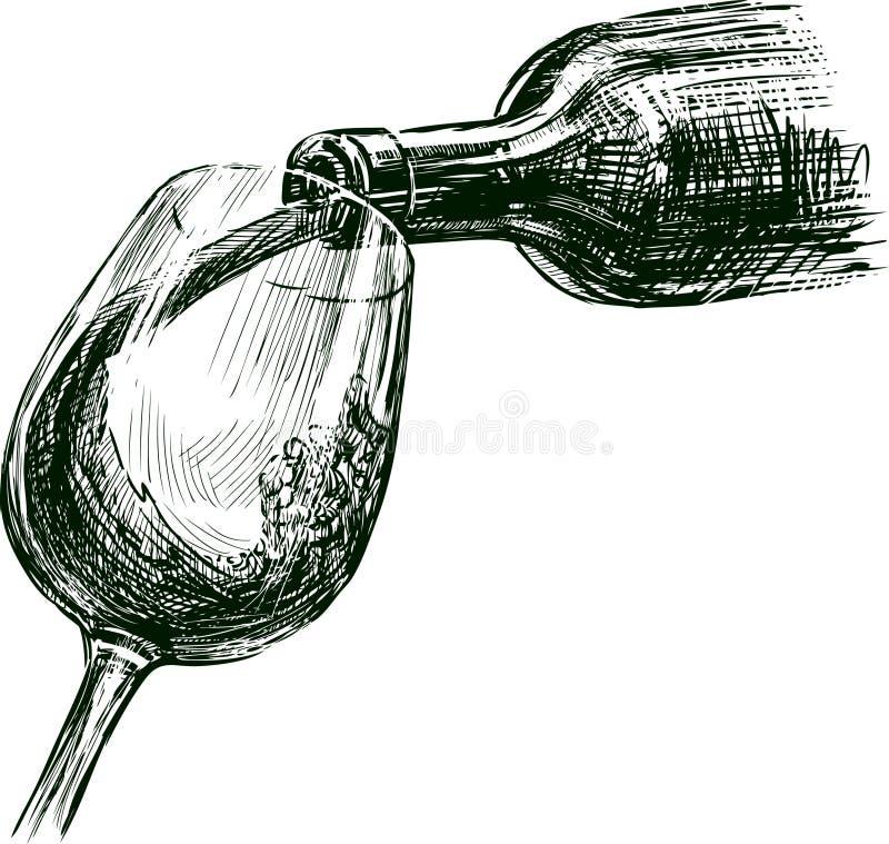 葡萄酒 向量例证