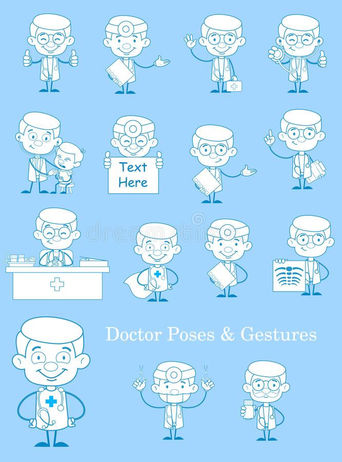 葡萄酒Medical Concepts Vector Set医生的 皇族释放例证