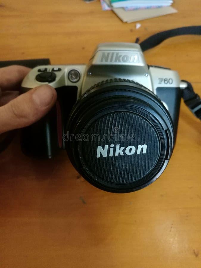 葡萄酒nikon照相机 图库摄影