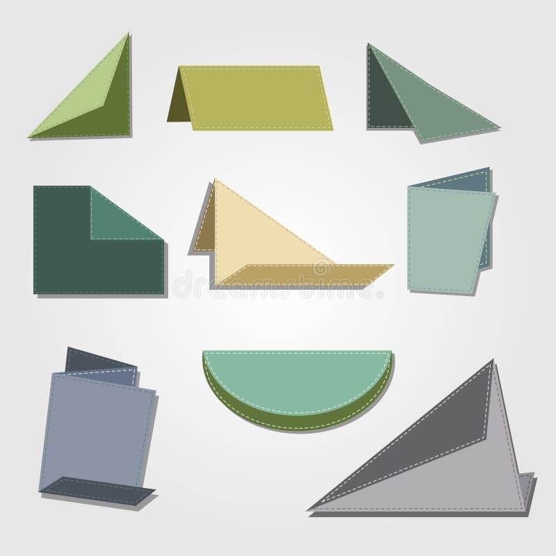 葡萄酒Origami纸设计 皇族释放例证