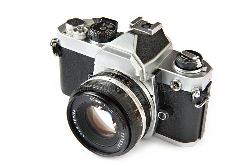 葡萄酒SLR照相机 免版税图库摄影