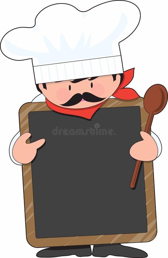 董事会主厨 向量例证
