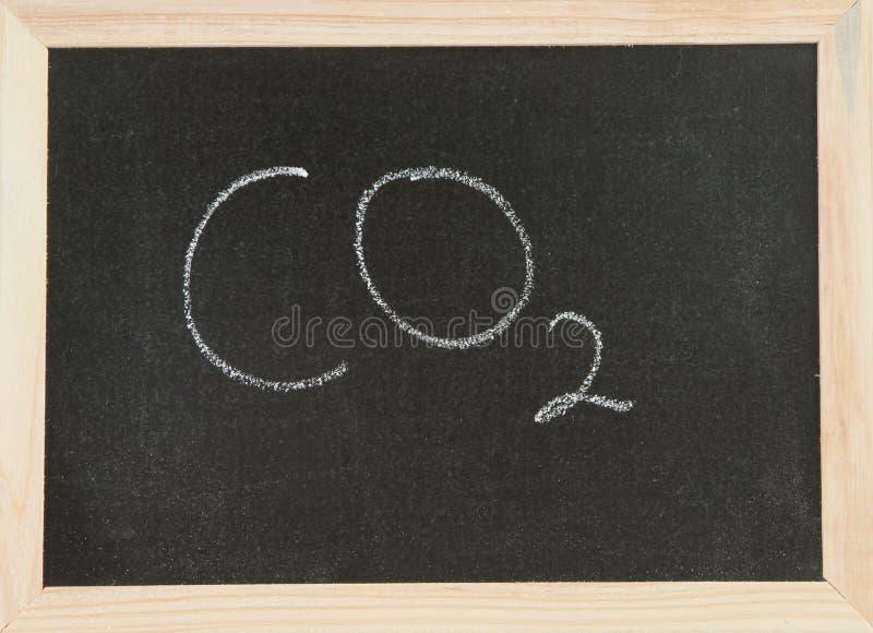 董事会二氧化碳 库存照片