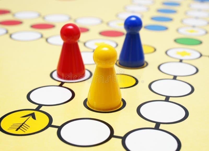 董事会五颜六色的比赛 库存照片