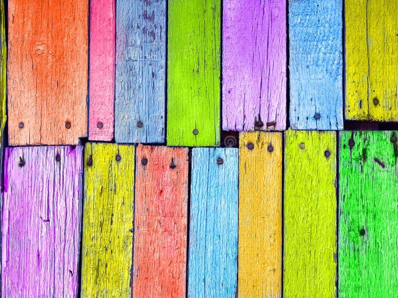 董事会五颜六色的被固定的木头 库存例证