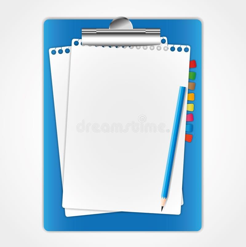 董事会夹子新的纸页 向量例证