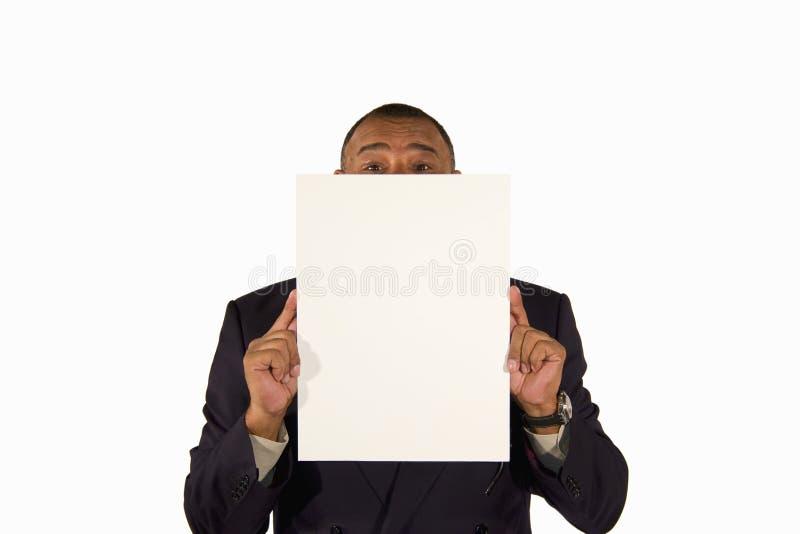 董事会存在前辈的生意人照片 免版税库存照片