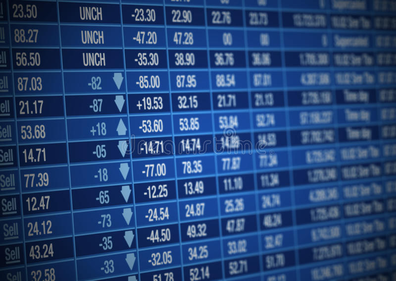董事会市场股票 皇族释放例证