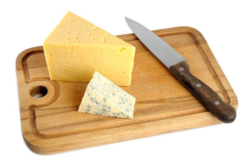 董事会干酪剪切 库存照片