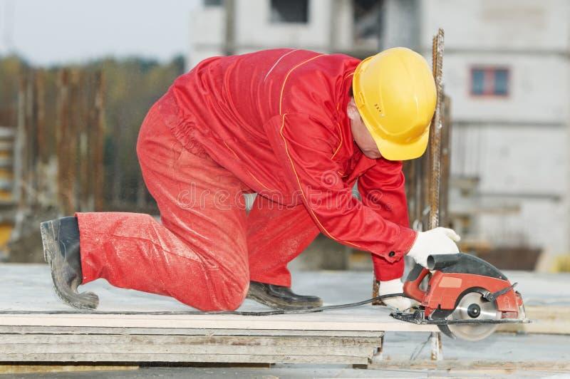 董事会建筑剪切木头 免版税库存图片