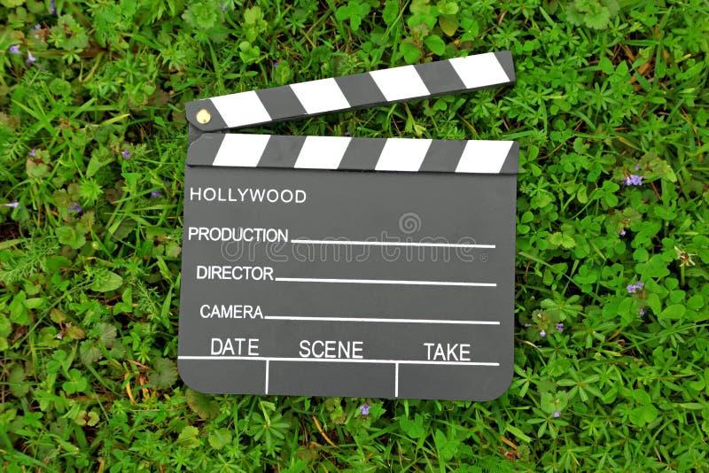 董事会戏院拍板草绿色 免版税库存照片