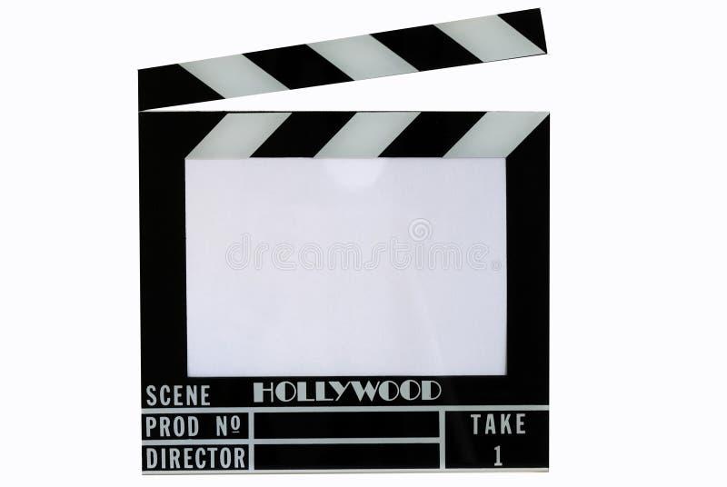 董事会拍手拍板好莱坞电影板岩 库存照片