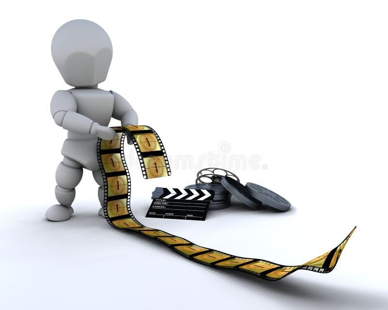 董事会拍板夹子影片人 向量例证