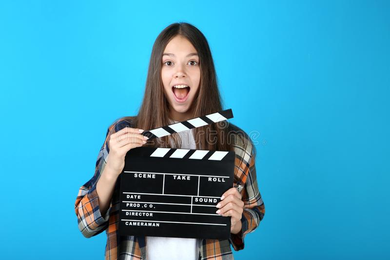 董事会拍板女孩年轻人 免版税库存图片