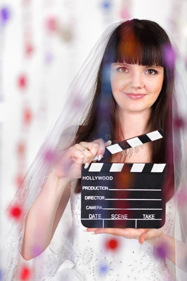 董事会新娘拍板微笑 库存照片