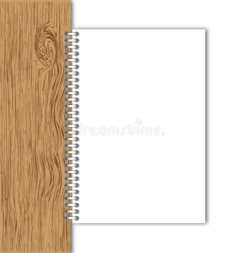 董事会新的页纸张木头 向量例证