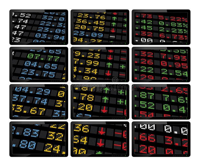 董事会显示市场股票 库存例证