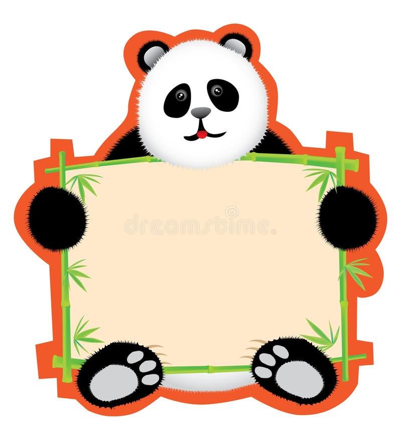 董事会消息熊猫 向量例证