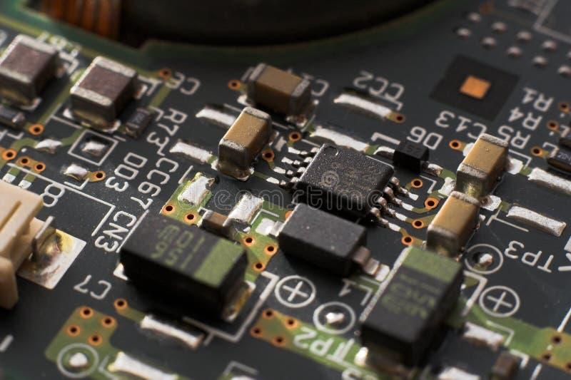 董事会电路微处理器电阻器 库存照片