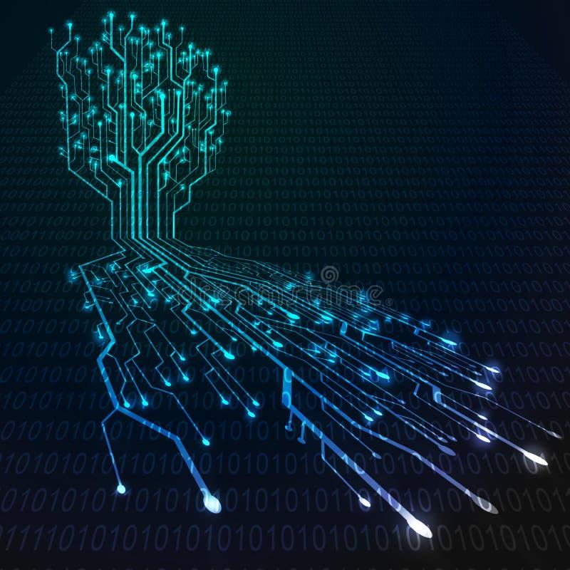 董事会电路根形状结构树 向量例证