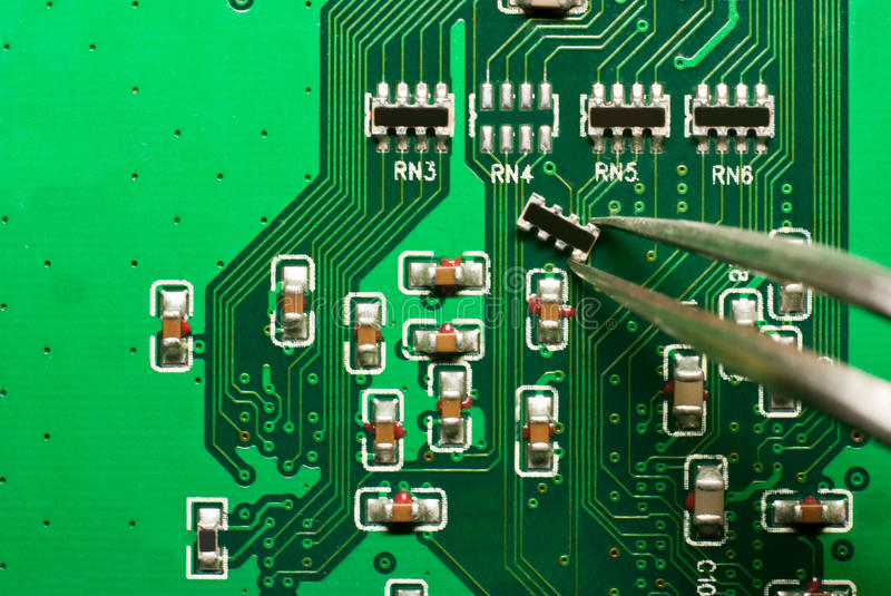 董事会电路电子维修服务 免版税图库摄影